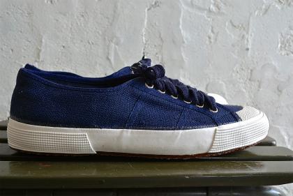 Italian navy canvas sneaker dead stock_f0226051_1326111.jpg