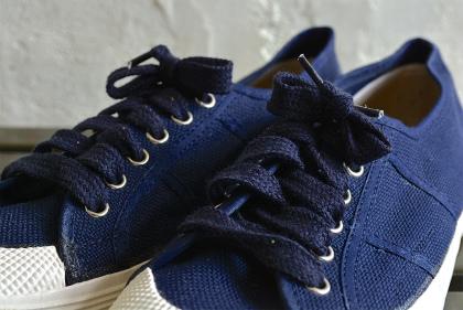 Italian navy canvas sneaker dead stock_f0226051_13262645.jpg