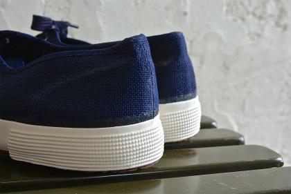 Italian navy canvas sneaker dead stock_f0226051_13264135.jpg