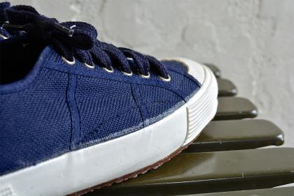 Italian navy canvas sneaker dead stock_f0226051_13265950.jpg
