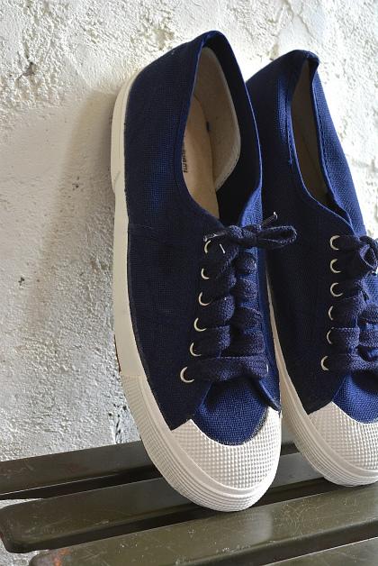Italian navy canvas sneaker dead stock_f0226051_1328024.jpg