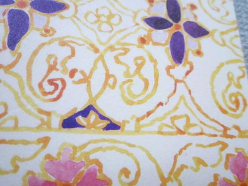 "手織袋帯""フランス刺繍文""   <工芸帯地洛風林の帯>_d0159384_23362564.jpg"