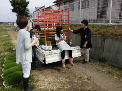 かがみいし田んぼアート 田植祭りの前に農作業だ!_e0140921_22232855.jpg