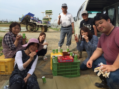 かがみいし田んぼアート 田植祭りの前に農作業だ!_e0140921_22263766.jpg