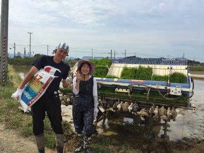 かがみいし田んぼアート 田植祭りの前に農作業だ!_e0140921_22265649.jpg