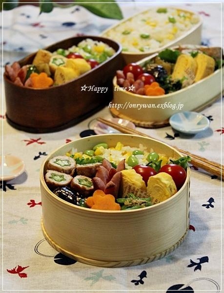 トウモロコシご飯弁当と平焼きあんぱん♪_f0348032_19185538.jpg