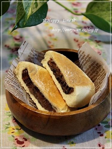 トウモロコシご飯弁当と平焼きあんぱん♪_f0348032_19194630.jpg