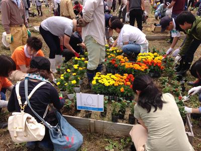 「母の日キャンペーン」の御支援で、被災地に花壇を作りました。_e0105047_1605964.jpg
