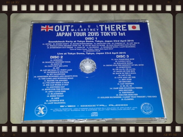 PAUL McCARTNEY / OUT THERE JAPAN TOUR 2015 TOKYO 23rd April_b0042308_151845.jpg