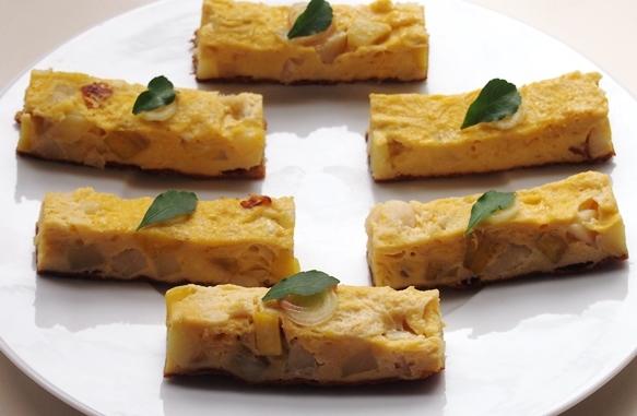 芋と帆立の卵焼き_e0148373_17121064.jpg