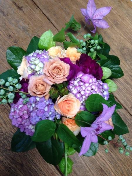 ブルーベリーとバラと紫陽花_f0155431_20515051.jpg