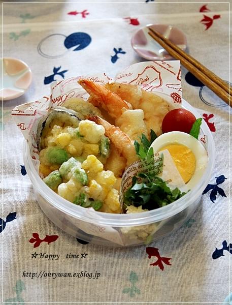 天ぷらころうどん弁当と越のルビー♪_f0348032_19282596.jpg