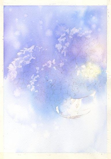 紫陽花 水彩画 その3_f0176370_16244468.jpg