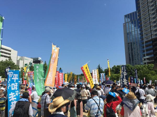 日本列島 連日騒然 安倍政権は戦争法案可決を急ぐ準備に突入_f0212121_19464613.jpg