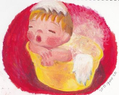 The angel bathing ケロリン桶_f0072976_105482.jpg