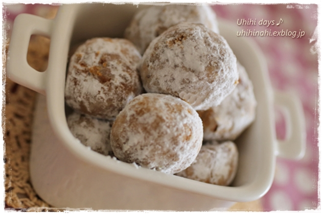 ココナッツオイル で きなこのスノーボールクッキー_f0179404_17444090.jpg