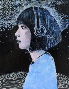 2015/7/22-27 末弘裕一展 「音楽と宇宙」「music and the universe」_e0091712_18544314.jpg