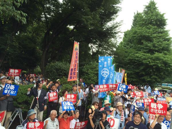 日本列島 連日騒然 安倍政権は戦争法案可決を急ぐ準備に突入_f0212121_122418.jpg
