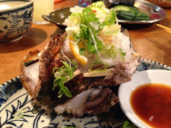 ご褒美のでっかい岩牡蠣!_b0229560_21120885.jpg