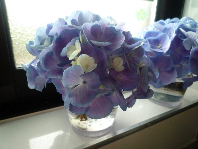 梅雨時のアロマブレンドと紫陽花のドライ_c0332287_22475019.jpg