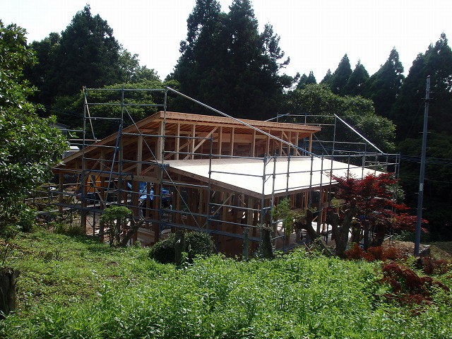 昨日6月21日(日)棟上げをいたしました。_e0266187_13412487.jpg