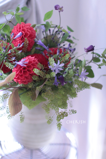 red & purple のブーケ_b0208604_14454045.jpg