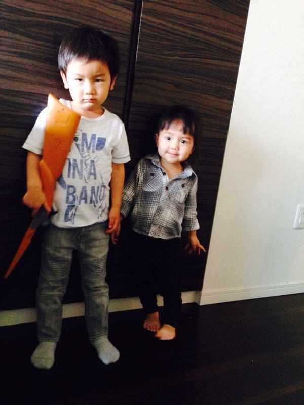 シオン3歳8ヶ月〜端午の節句に母の日に初めての運動会_e0253026_6171318.jpg