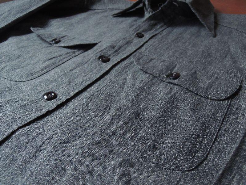 50S BIGMAC BLACK CHAMBRAY SHIRT--RECOMMEND--_c0176867_14113227.jpg