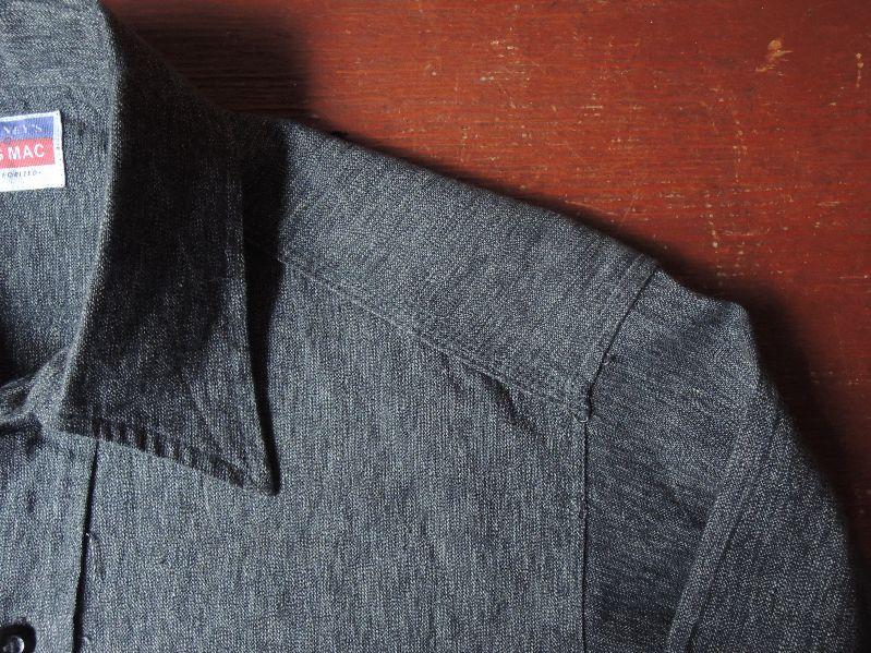 50S BIGMAC BLACK CHAMBRAY SHIRT--RECOMMEND--_c0176867_14174277.jpg