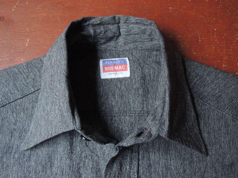 50S BIGMAC BLACK CHAMBRAY SHIRT--RECOMMEND--_c0176867_14474323.jpg