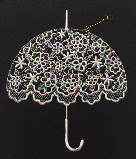 レース編み日傘のミシン刺繍データ作りました♪_c0316026_19333490.jpg