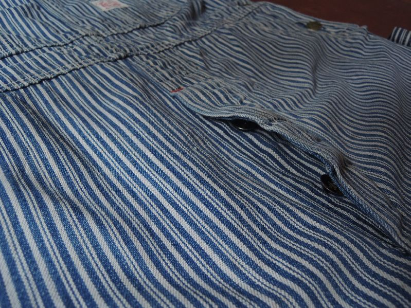 50\'S TEST RANDOM HICKORY OVERALL--RECOMMEND--_c0176867_14591644.jpg