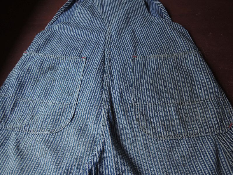 50\'S TEST RANDOM HICKORY OVERALL--RECOMMEND--_c0176867_15223914.jpg
