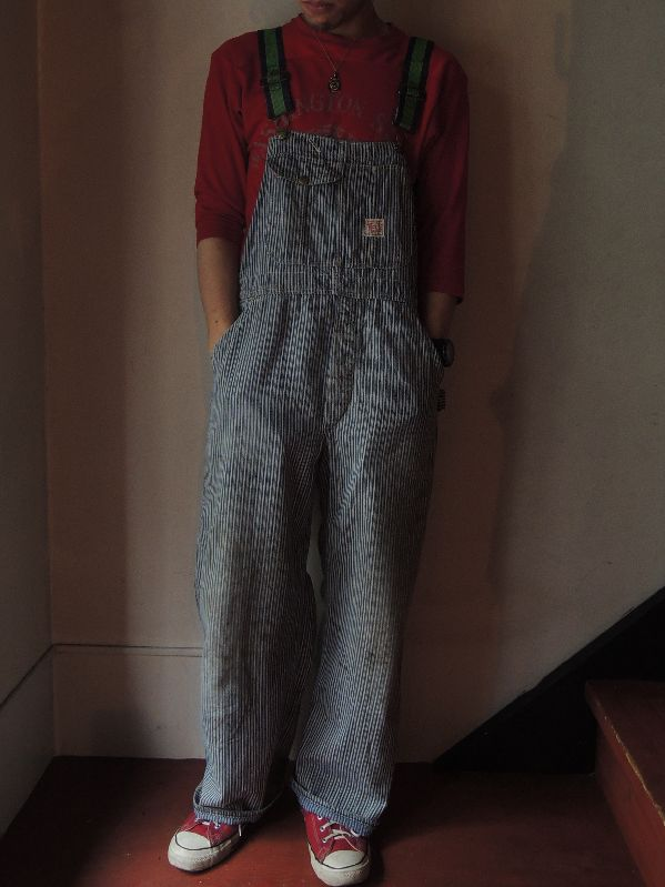 50\'S TEST RANDOM HICKORY OVERALL--RECOMMEND--_c0176867_1758411.jpg