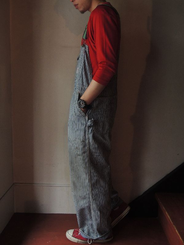 50\'S TEST RANDOM HICKORY OVERALL--RECOMMEND--_c0176867_17585144.jpg