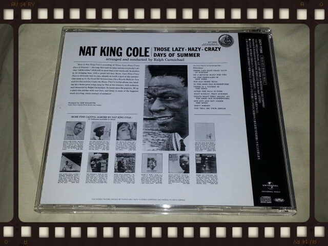 NAT KING COLE / THOSE LAZY - HAZY -CRAZY DAYS OF SUMMER_b0042308_0525054.jpg