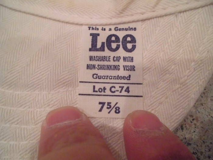Early60\'s DEAD STOCK Lee HBT Engineer Cap NOS ②_e0187362_1922334.jpg