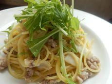 6/25本日パスタ:豚ひき肉とキノコの和風スパゲティ_a0116684_12294198.jpg