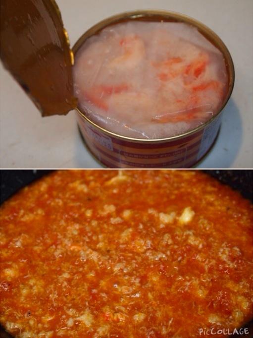 蟹缶トマトクリームパスタ_a0258686_711711.jpg