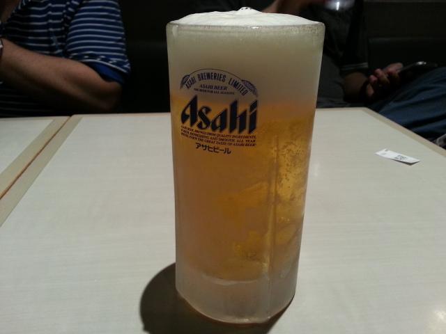 6/27 鳴声 台湾まぜそば追い飯付¥850+生ビール¥500@立川ラーメンスクエア_b0042308_152025100.jpg