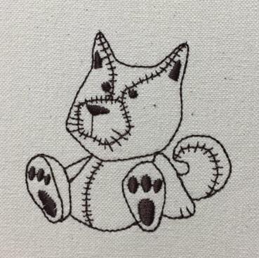 犬の縫いぐるみを刺繍しました♪_c0316026_16151199.jpg