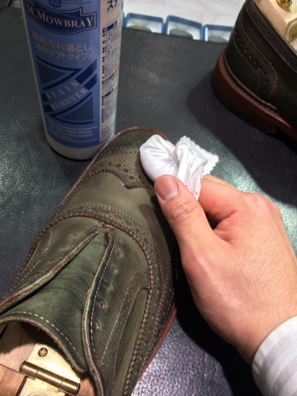 珍しい色の靴の手入れは無色クリームに限る!_b0226322_18123797.jpg