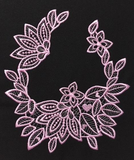 花柄モチーフレースU字形を作りました♪_c0316026_14481471.jpg