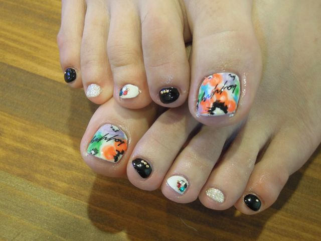 Botanical Foot Nail_a0239065_1071692.jpg