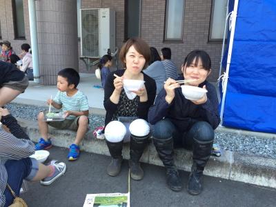 本番!かがみいし田んぼアート田植祭り_e0140921_2221960.jpg