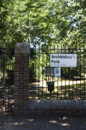 猫とアーチビショップ公園で。_b0199526_19274268.jpg