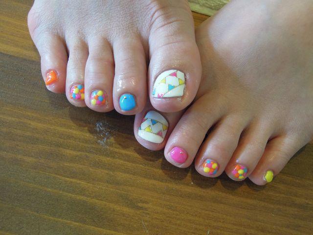 Summer Foot Nail_a0239065_1101953.jpg
