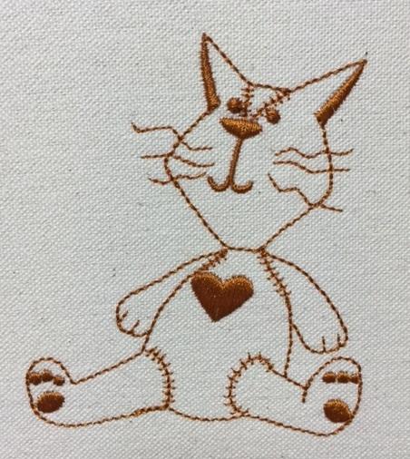 猫の縫いぐるみ刺繍を作りました♪_c0316026_19205657.jpg