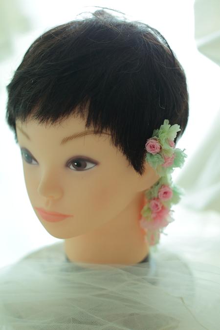 花のイヤーカフ ウエディング用に と、和装ブーケプルズの演出_a0042928_14313992.jpg