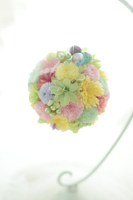 花のイヤーカフ ウエディング用に と、和装ブーケプルズの演出_a0042928_14321492.jpg